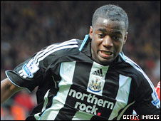 Newcastle United's Sebastien Bassong