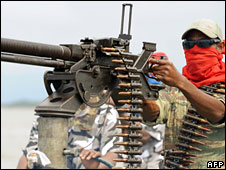 A militant in the Niger Delta