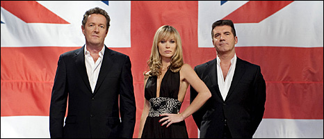 Piers Morgan, Amanda Holden and Simon Cowell