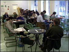 university cafe scene