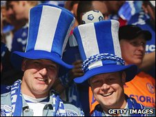 Football fans in Germany with silly hats