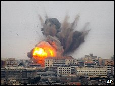 File photo of massive explosion in the southern suburbs of Beirut.