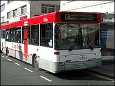 Plymouth CityBus at bus stop