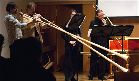 Lituus being played (EPSRC)