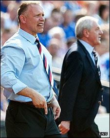 Falkirk boss John Hughes looks on from the Hampden touchline