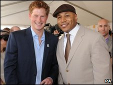 Prince Harry with LL Cool J