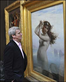 Jeremy Paxman looking at a Victorian nude
