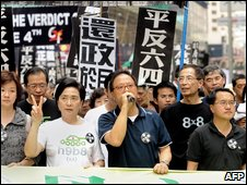 Members of Hong Kongs pro-democracy camp