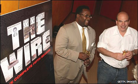 David Simon (right) with actor Wendell Pierce, of The Wire