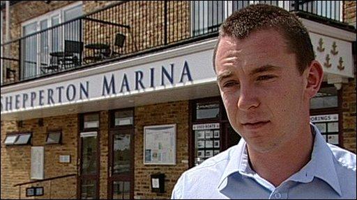 Shepperton Marina worker Ben Clarke