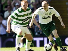 Neil Lennon challenges Willo Flood on Sunday