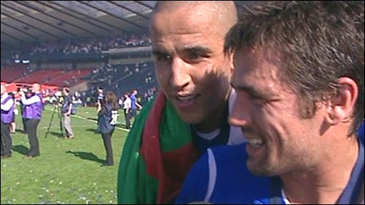 Madjid Bougherra and Nacho Novo