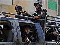 قوات امن تابعة للسلطة الفلسطينية في قلقيلية