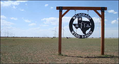 Cattle ranch sign
