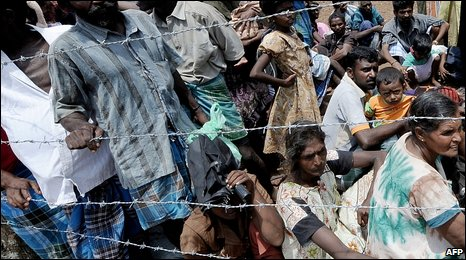 Tamil civilians in northern Sri Lanka, 23 May 2009