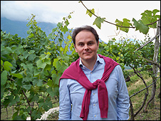 Matteo Lunelli, head of Ferrari Spumante vineyard