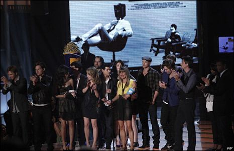 The cast and crew of Twilight