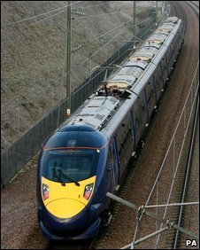 "High-speed ""Javelin"" train"