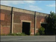 On of 50-plus outbuildings still standing on the Valley Works site