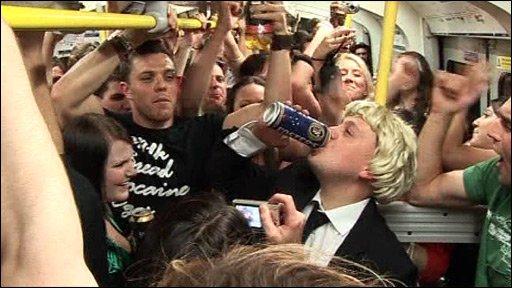 Student drinking