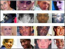 Images of all 72 teenagers who were violently killed in 2008