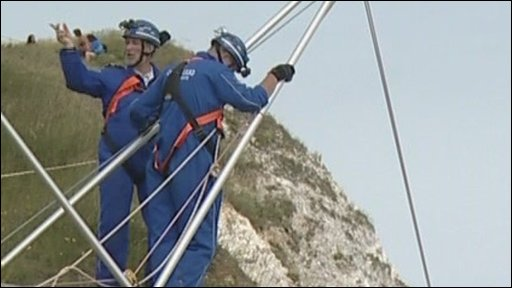 Coastguards at Beachy Head