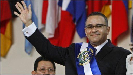 El Salvadorean President Mauricio Funes