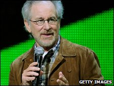 Director Steven Spielberg at the E3 Expo in Los Angeles (1 June 2009)