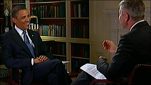 President Obama with the BBC's Justin Webb