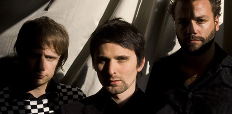 Dominic Howard, Matthew Bellamy and Christopher Wolstenholme from Muse