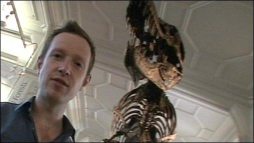 Adam at a museum