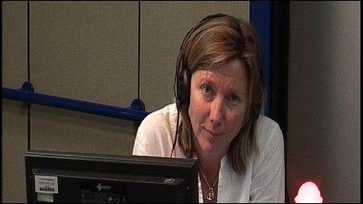 Presenter Sarah Montague