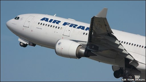 Missing Air France plane (photo from Air Team Images)