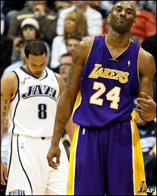 Williams behind Kobe Bryant