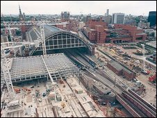 Development work on St Pancras