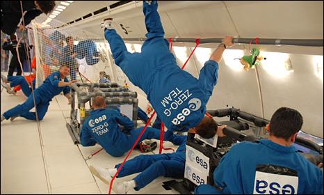 Zero gravity plane (BBC)