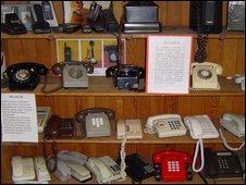 A collection of telephones at the Heritage Museum.
