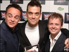 Ant and Dec with Robbie Williams