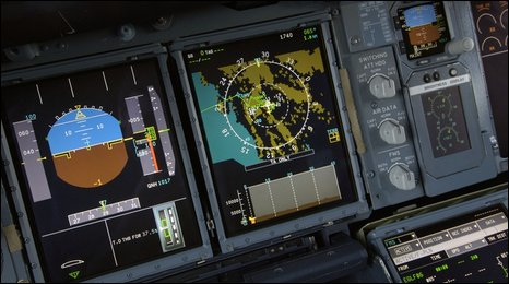 Airbus A380-800 cockpit controls, 2006