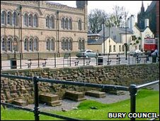 Remains of Bury Castle (c) Bury Council