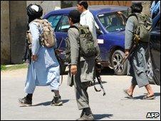 Taleban members in north-western Pakistan