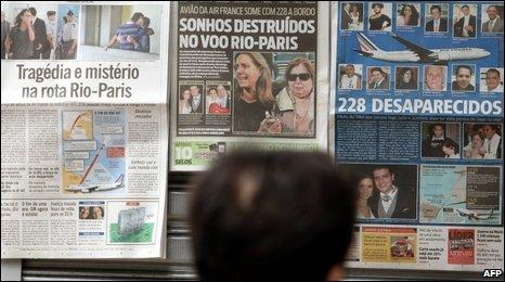 A news stand in Rio de Janeiro
