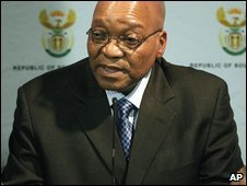 South African President Jacob Zuma in Pretoria (10 May 2009)