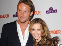 Jenson Button and Kylie Minogue