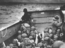 US troops prepare to land on Normandy beaches