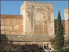 Part of The Alhambra in Granada, Spain