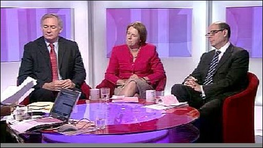 Geoff Hoon, Caroline Spelman and Nick Robinson