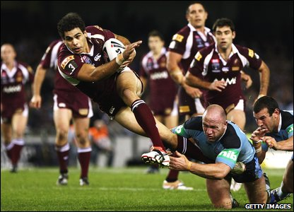 Greg Inglis in action for Queensland
