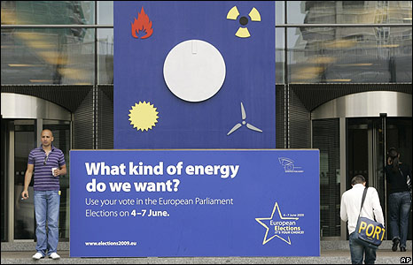 Election poster at European Parliament, Brussels