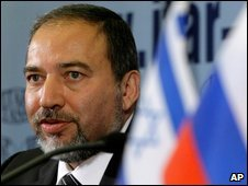 Israeli Foreign Minister Avigdor Lieberman in Moscow